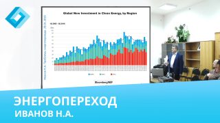 """Видео: Иванов Н.А., """"Энергопереход: истоки, перспективы и проблемы прогнозирования"""""""